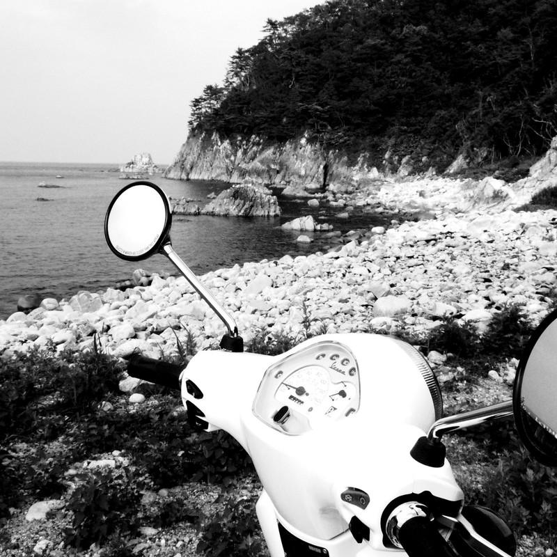 見送った海岸。