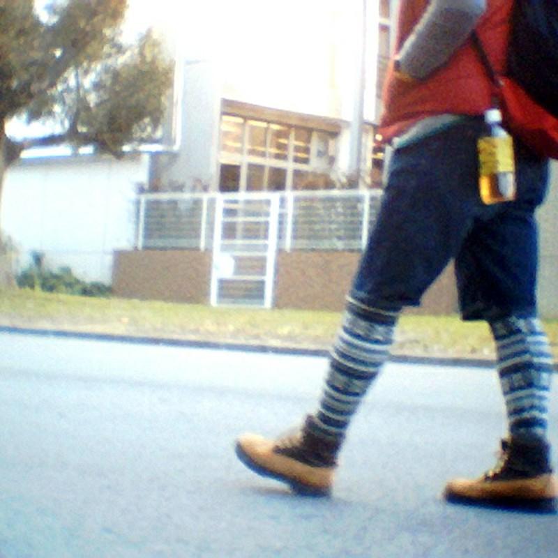 walking toward the next classroom