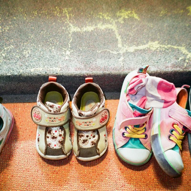 迎えを待つ靴たち