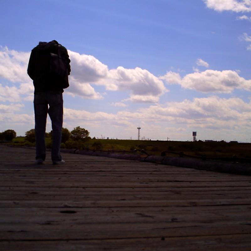 風の強かった日。