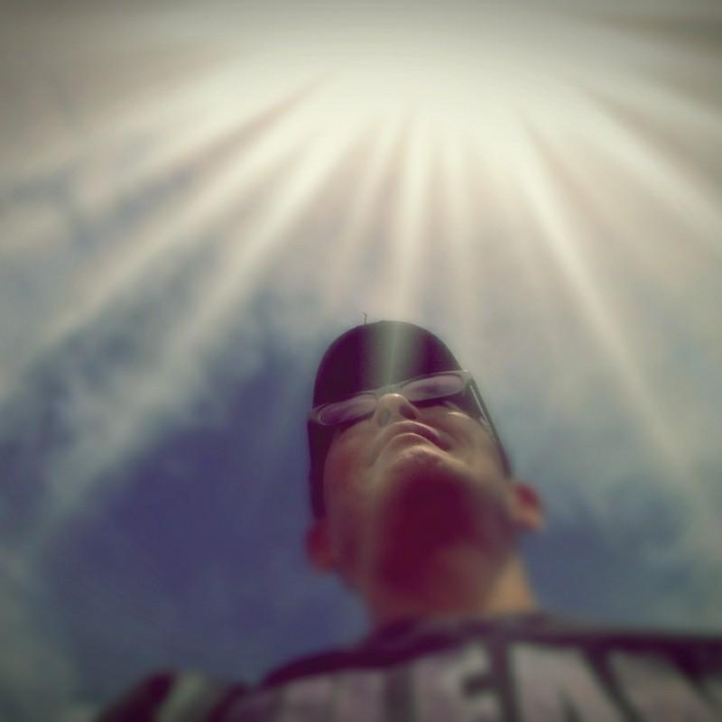 光を浴びて。