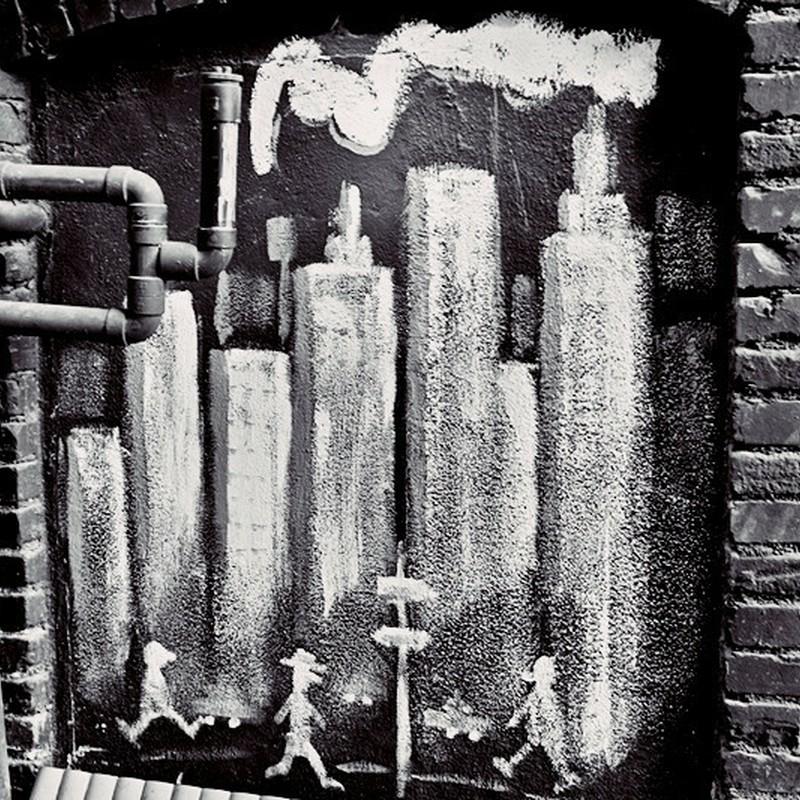 路地裏アート。