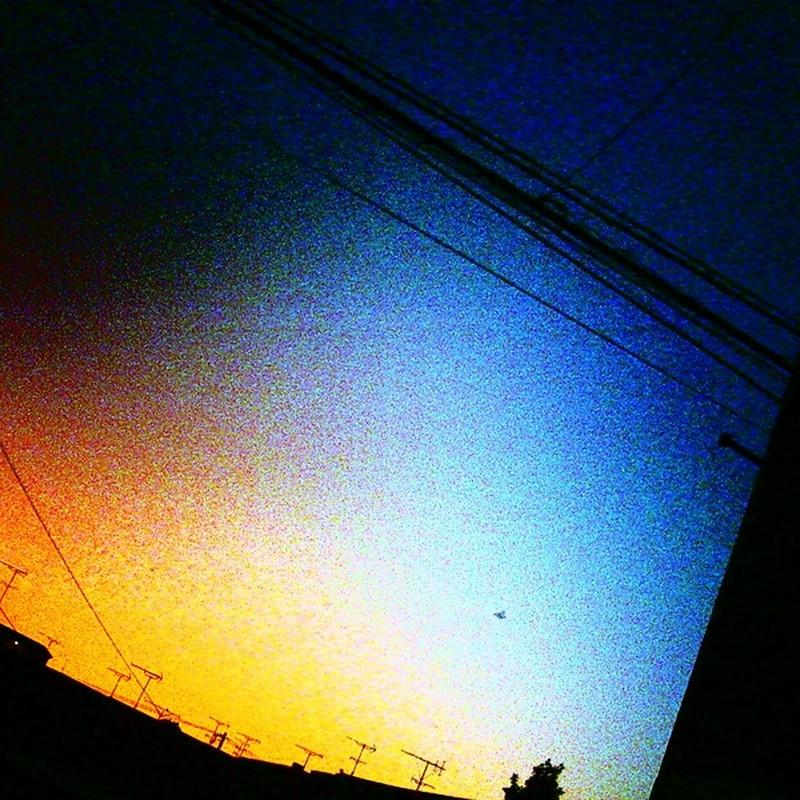 虹色夕暮。