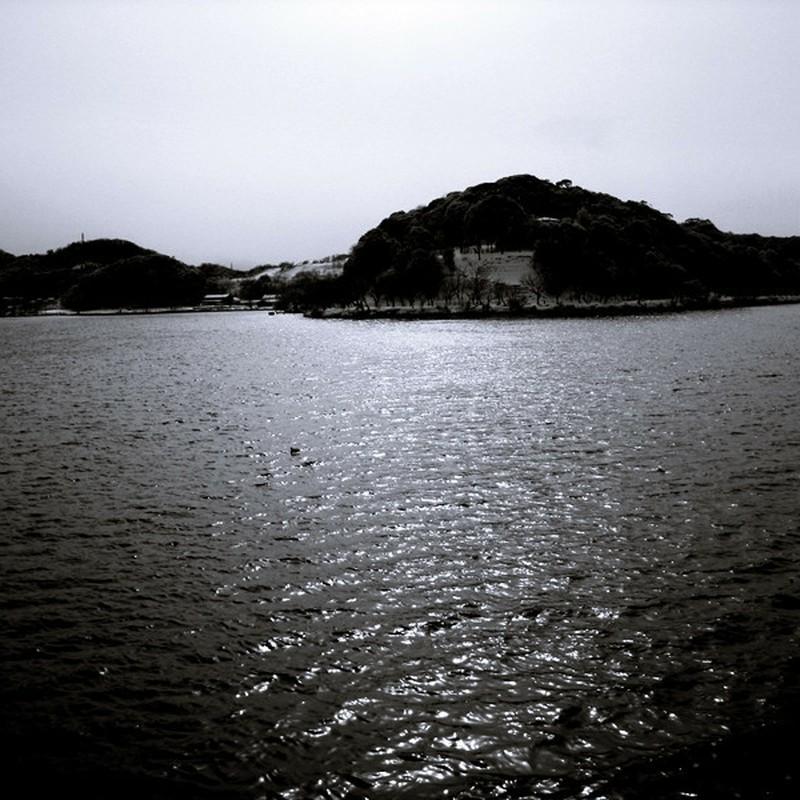 湖のキラキラ。