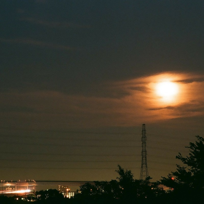 hazy moon.
