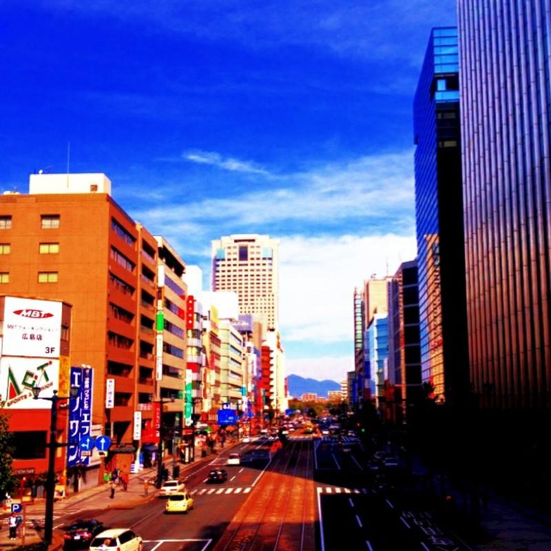 広島市電のある風景