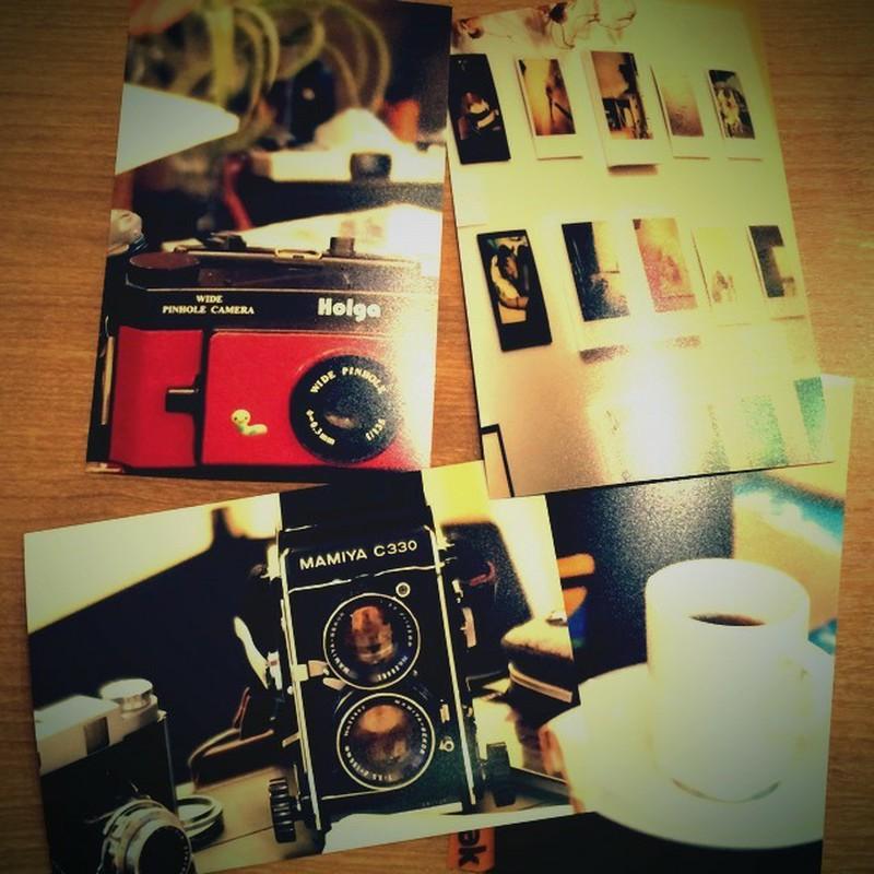 『フィルムで綴るましかく写真展』、最終日♪