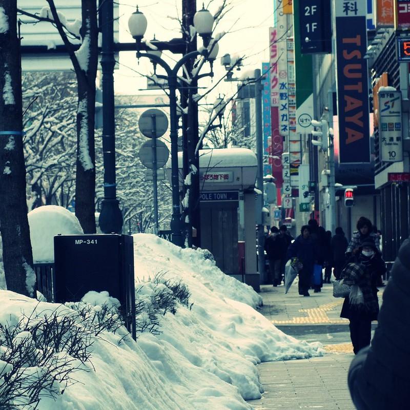 冬の町並み