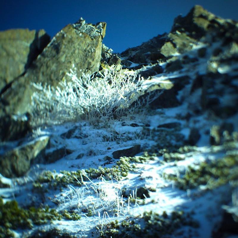 凍てつく岩稜