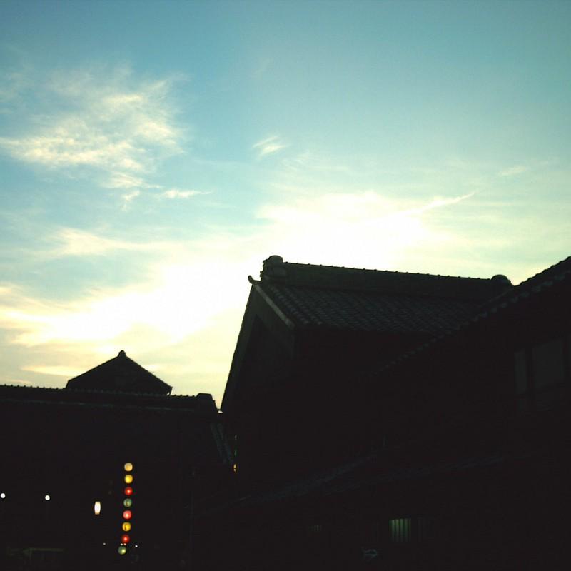 蔵町の夕暮れ
