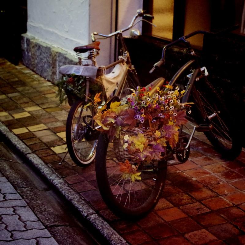 花束を届けに