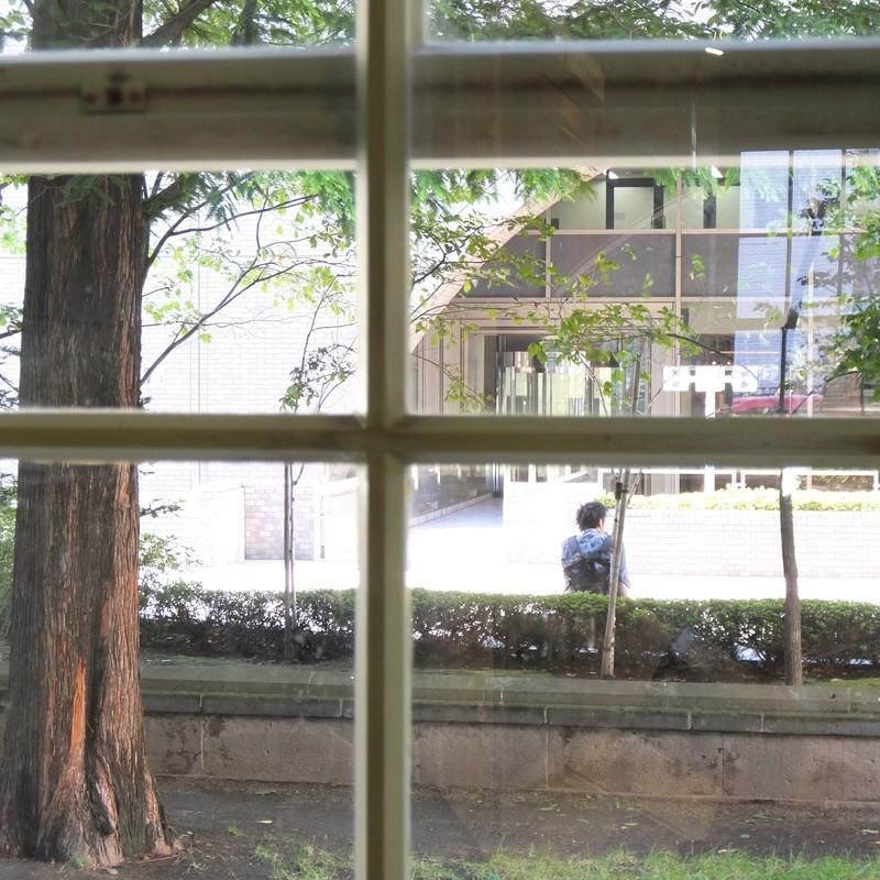 木枠の窓から見た景色