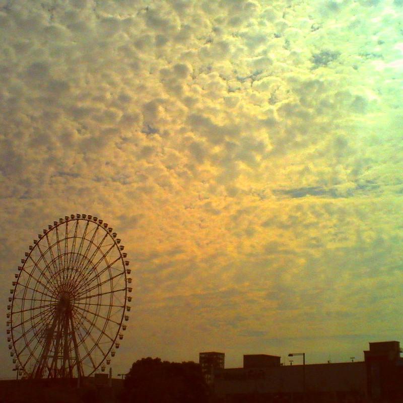 空一面の雲