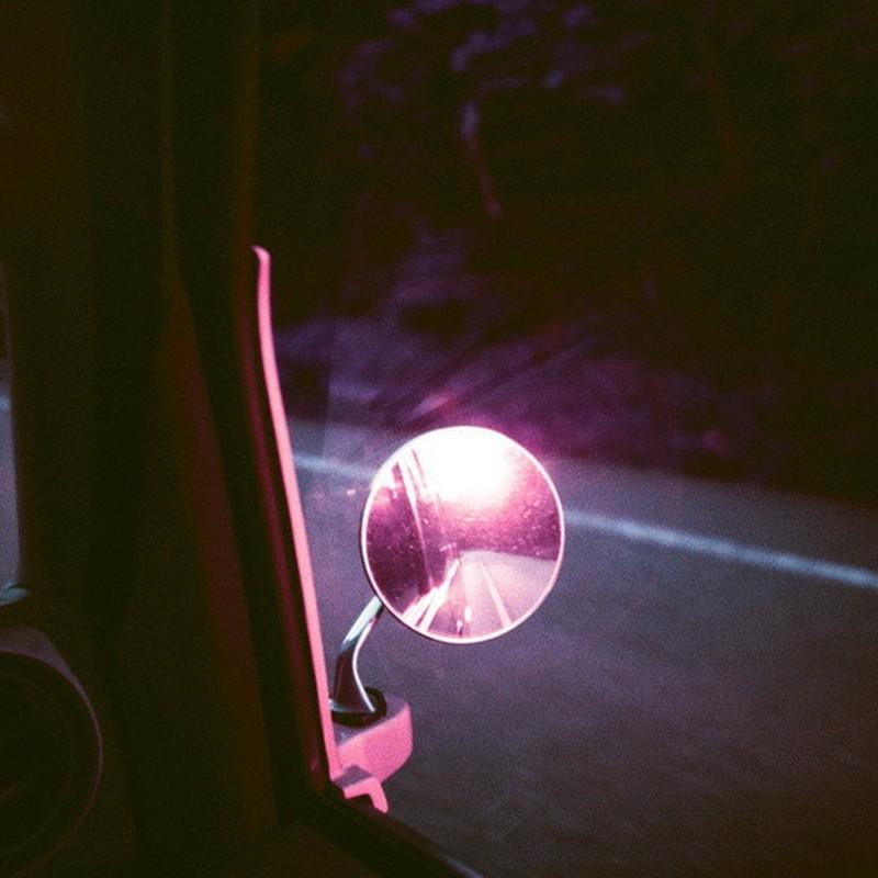 夕日に輝いて