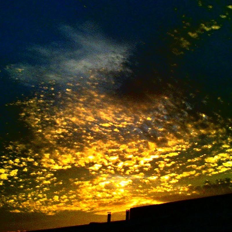 きらきら輝く夕日