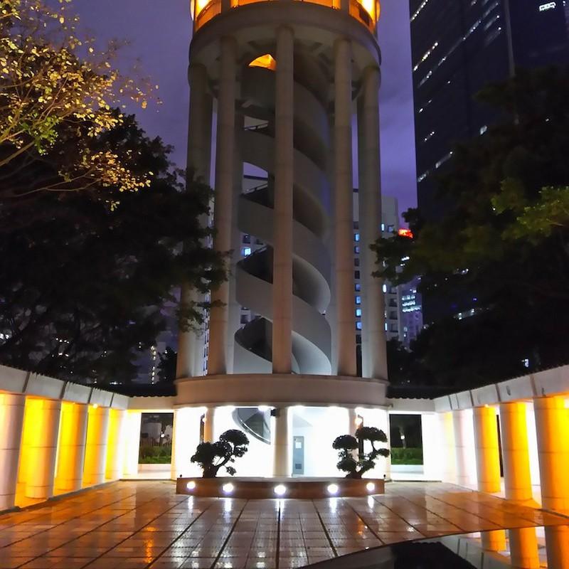 2017/03/12_夜の香港公園の展望塔