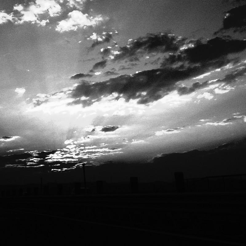 岐阜の夕日