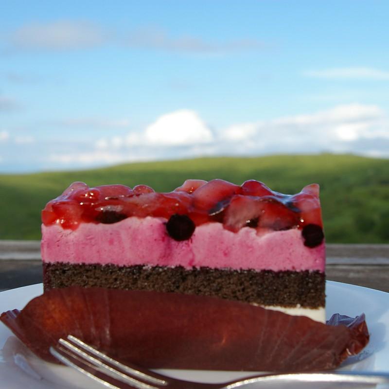 ケーキと珈琲と山と空と思い出と