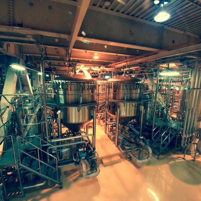 ビール工場の濾過機