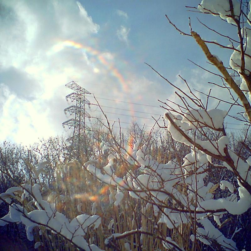鉄塔と冬空*ポケデジ