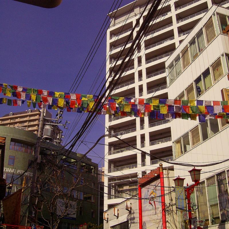 中華街の旗