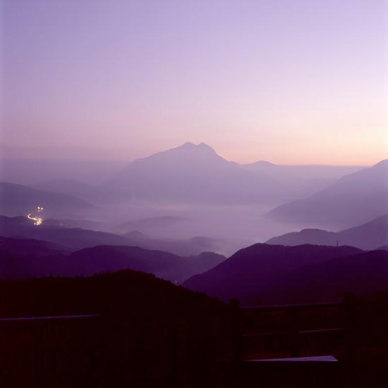 紫色の夜明け