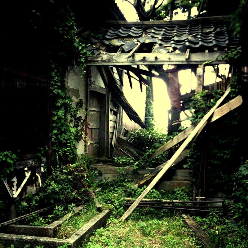 朽ちた廊下