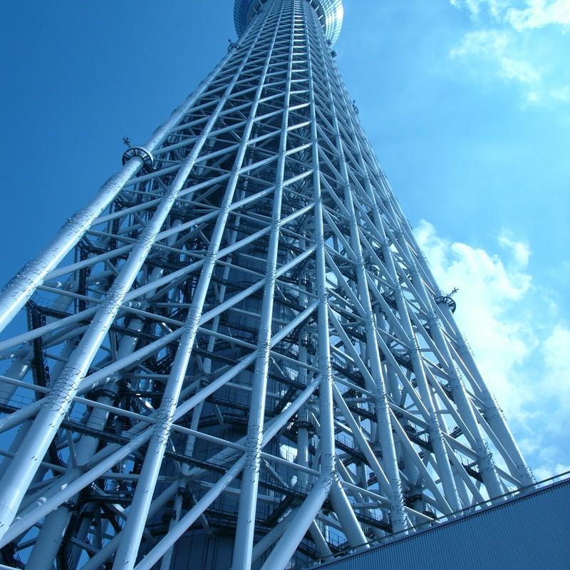 晴天の摩天楼