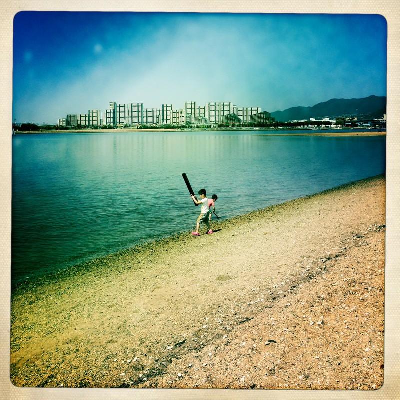 水辺の戯れ