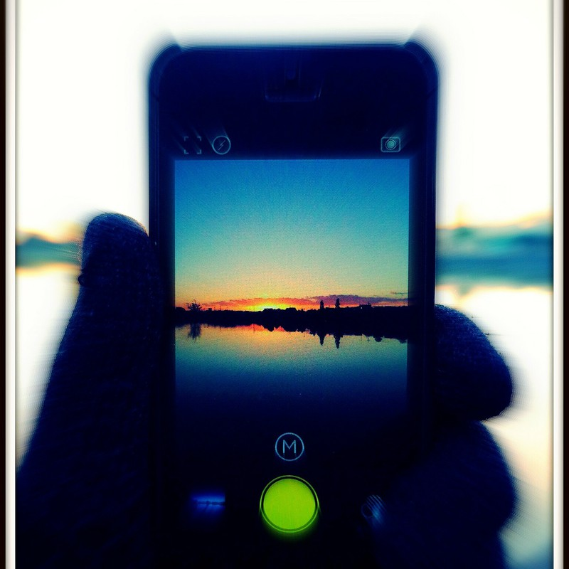Morning through the iPhone…