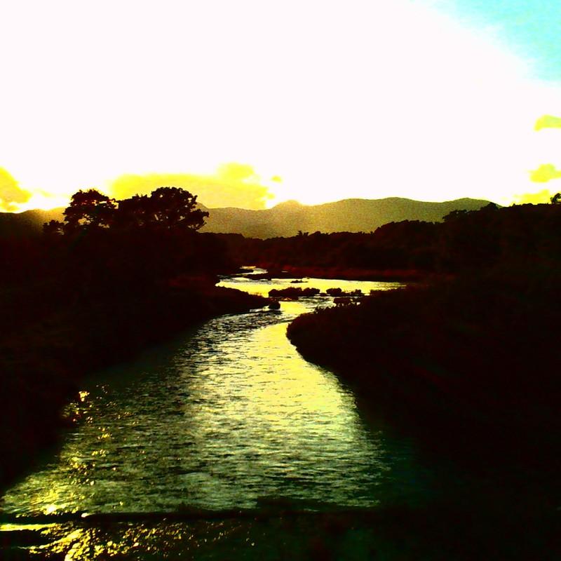 川を見つめて