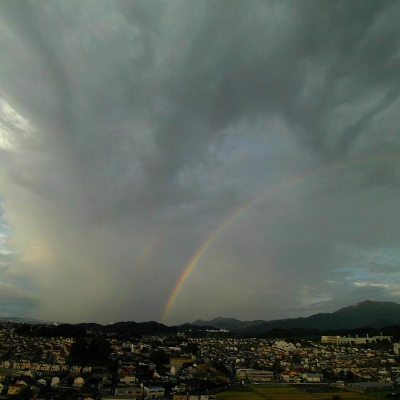 虹をみた朝