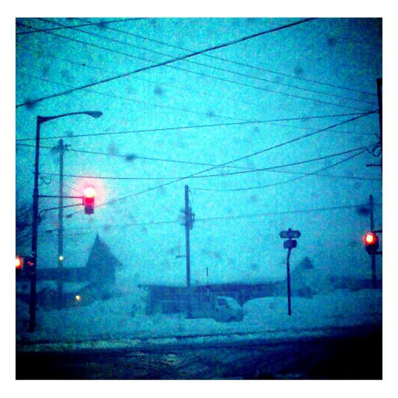 雪の交差点
